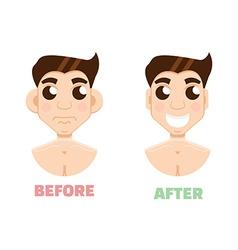 Plastic surgery man otoplasty vector image