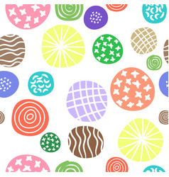 polka dots doodle seamless pattern vector image