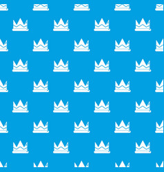 Prince crown pattern seamless blue vector