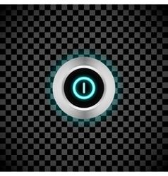 realistic button vector image