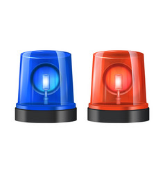 Realistic detailed 3d police beacon vector