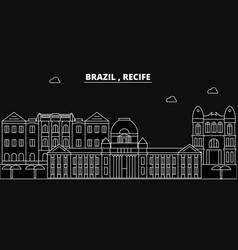 Recife silhouette skyline brazil - recife vector