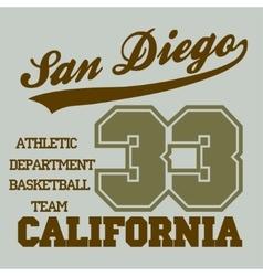 San Diego CA vector