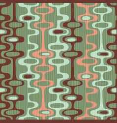 Seamless retro mid century modern pattern vector