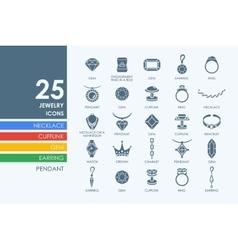 Set of jewelry icons vector