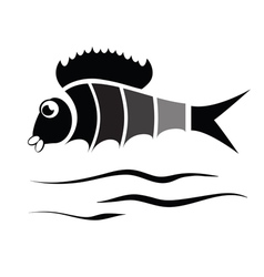 silhouette of fish vector image
