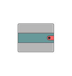 Simple wallet outline icon vector