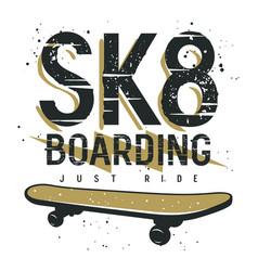 skateboard 013 vector image