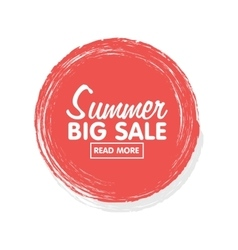 Summer sale concept sticker and banner tamplate vector image