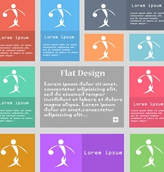 Summer sports basketball icon sign Set of vector image