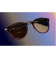sunglasses on rainbow background vector image