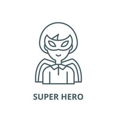 Super hero line icon linear concept vector