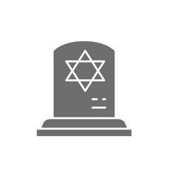 Tombstone with star david gravestones vector