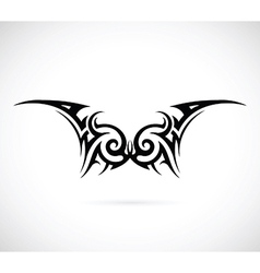 Tribal wings tattoo vector