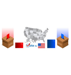 us election pools ballot box icon vector image