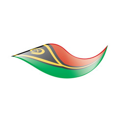 vanuatu flag vector image