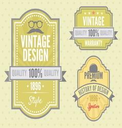 Vintage labels resize vector