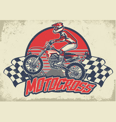 Vintage motocross design vector