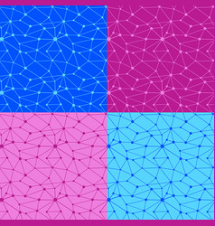 web net seamless patterns vector image