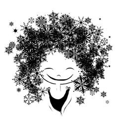 Winter female portrait for your design vector image