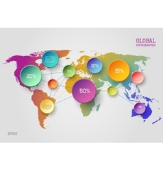 World map infographic concept vector image