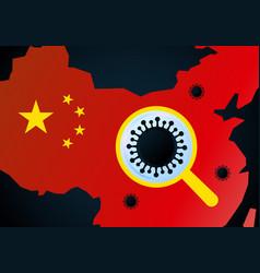 Wuhan region affected flu vector