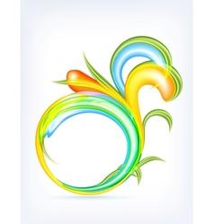 Abstract Drop vector image