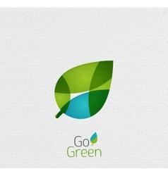 Green Leaf Nature Concept vector image