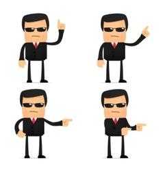 security guard cartoon vector image