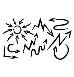 Set arrows drawn vector image vector image