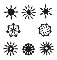 Set of elements for design-spiral flowers vector image vector image