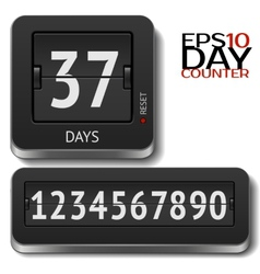 Analog flip day counter on white vector image vector image