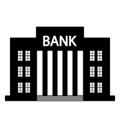 Bank icon vector