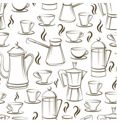 coffee seamless pattern design vector image vector image