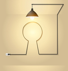 Creative keyhole with light bulb idea vector image vector image