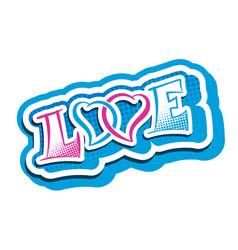 Love heart romantic vector