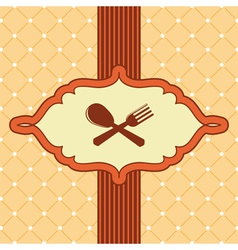 menu cover with kithchen icons vector image vector image