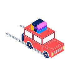 Retro car isometric style vector