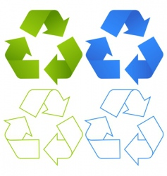 set of recycling symbols vector image vector image