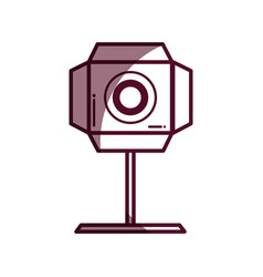 Silhouette short film lights video camera studio vector