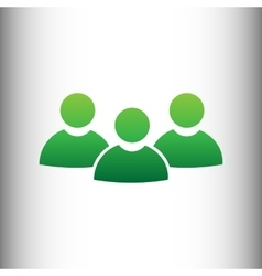 Team work sign vector image vector image