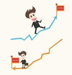 up and down Business man vector image