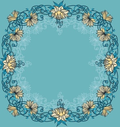Frame with lilies and place for text vector image vector image