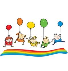 kids rainbow vector image vector image