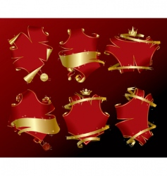 set of holiday red banners vector image vector image