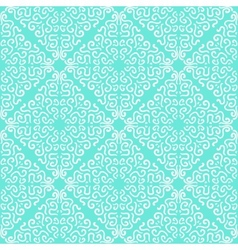 White curly graphic pattern on blue background vector image vector image