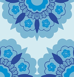 7 Ornamental corners flowers silhouette pattern vector image