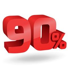 90 percent digits vector image vector image