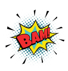 bam comic bubble vector image vector image