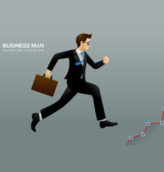 business man run vector image vector image